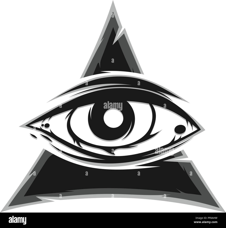 All Seeing Eye Sign Symbol Vector Art Stock Vector Art