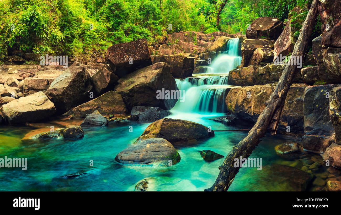 Indonesia. Sumatra. Rainfall in the canyon 10