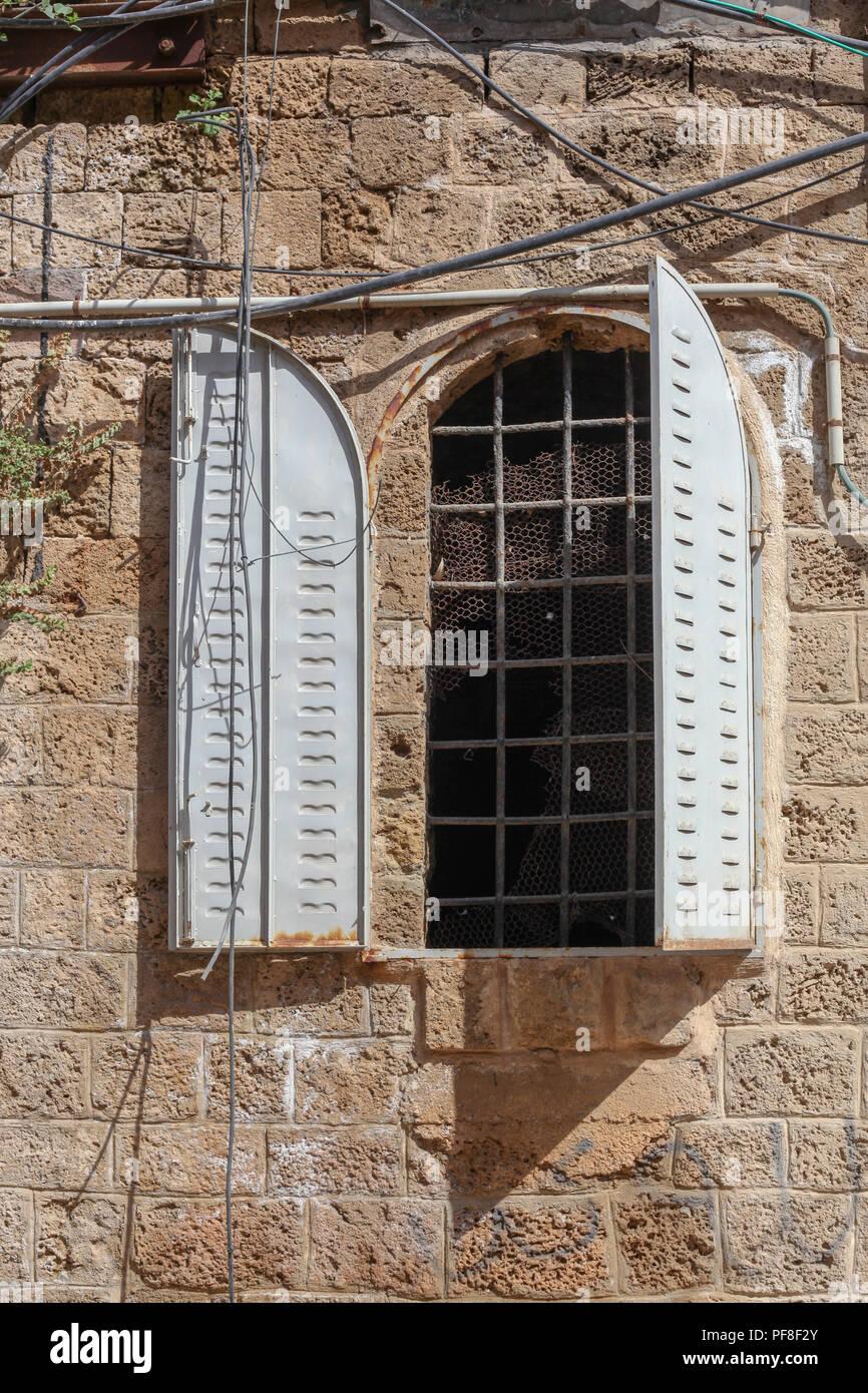 Old building in Old Jaffa, Tel Aviv, Israel Stock Photo