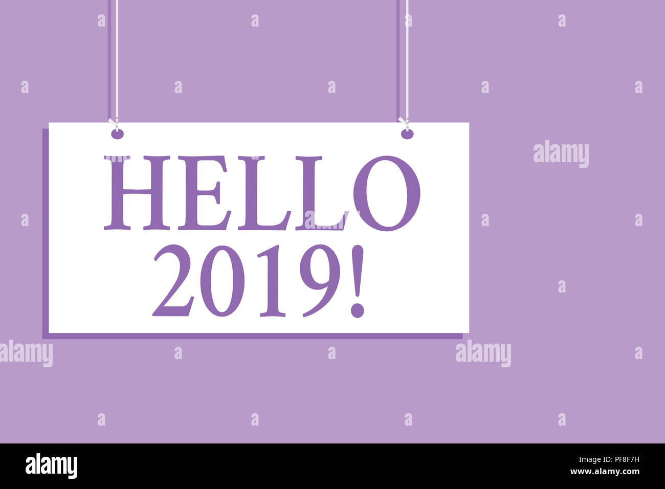 Writing note showing hello 2019 business photo showcasing business photo showcasing expression or gesture of greeting answering the telephone hanging board message communicati m4hsunfo