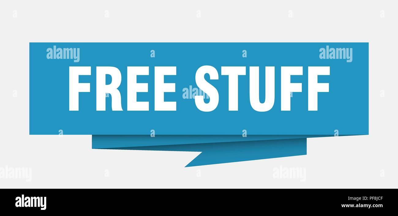 free stuff sign. free stuff paper origami speech bubble ...