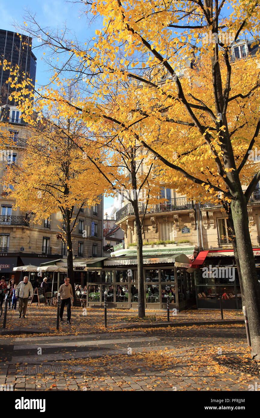 Paris, square Stephane Hessel, quartier Montparnasse, Ile de France, 75, - Stock Image