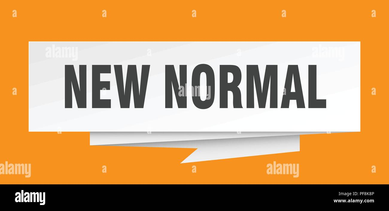 New Normal Sign New Normal Paper Origami Speech Bubble New