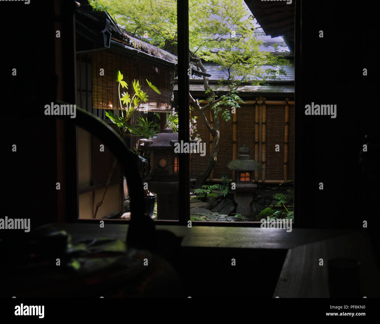 Traditional Hotel in Kyoto (ryokan) - Stock Image