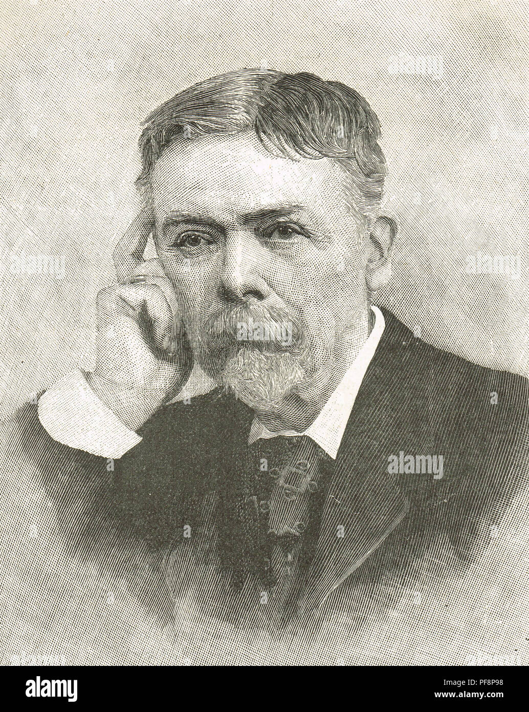 George du Maurier, Franco-British cartoonist, known for his drawings in Punch, author of the novel Trilby, who created the character Svengali - Stock Image