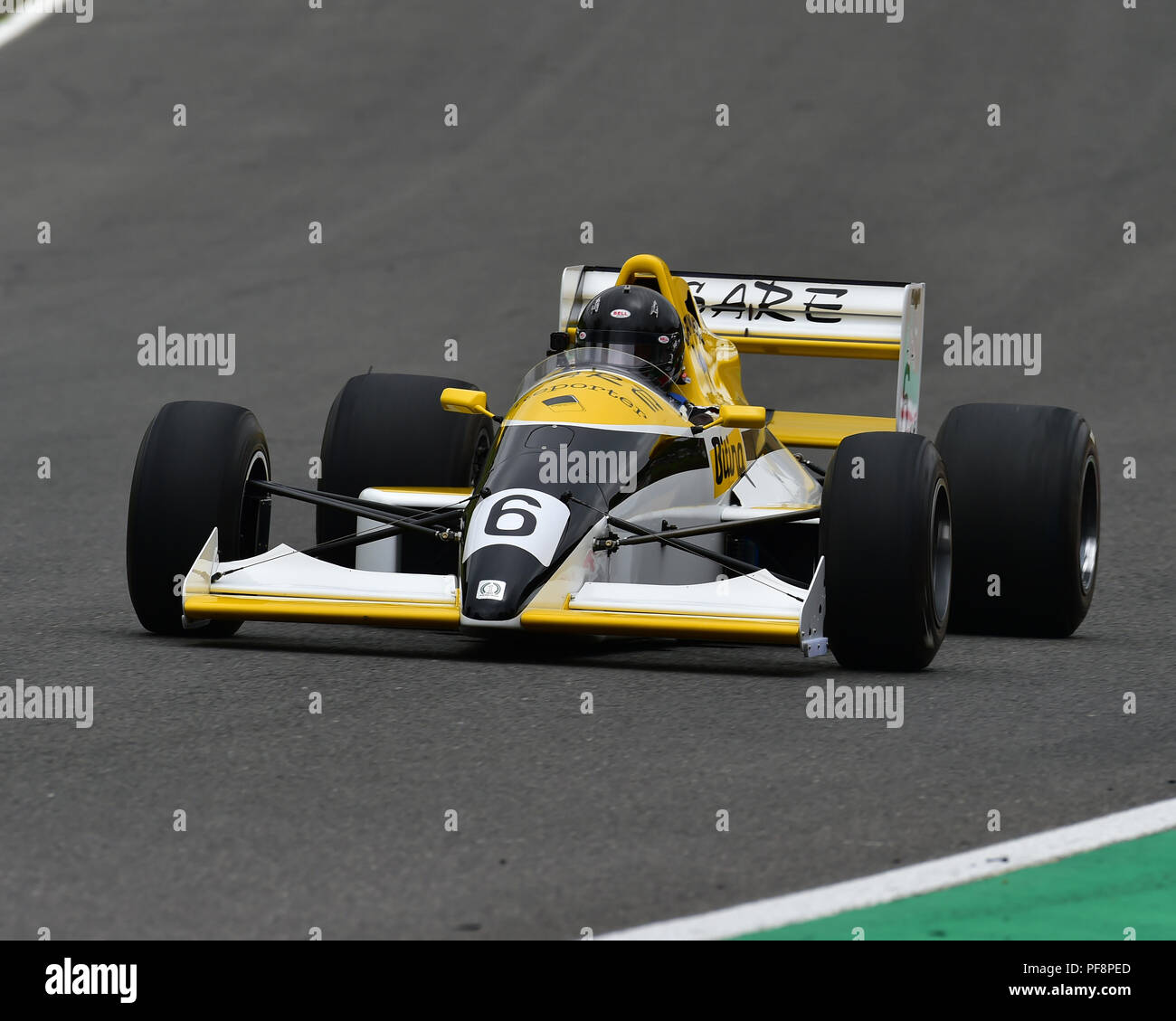 F3000 Reynard, F1, Historic Racing Car Demonstration, Festival Italia, Brands Hatch, Kent, August 19th, 2018, circuit racing, competition, Ferrari, Fe - Stock Image
