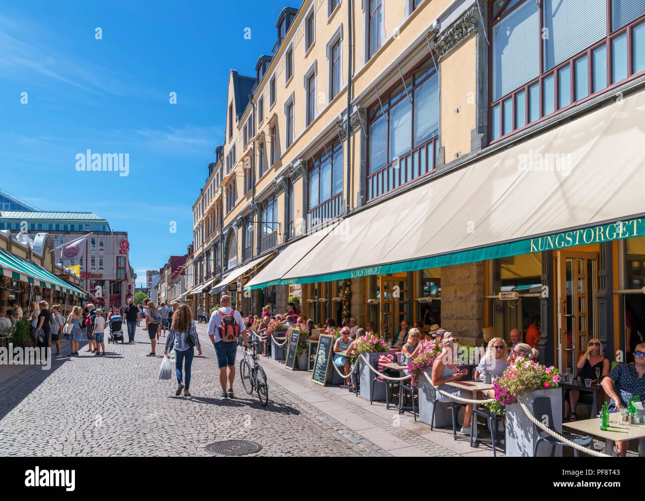 Gothenburg Sweden Cafes Bars Restaurants On Kungstorget
