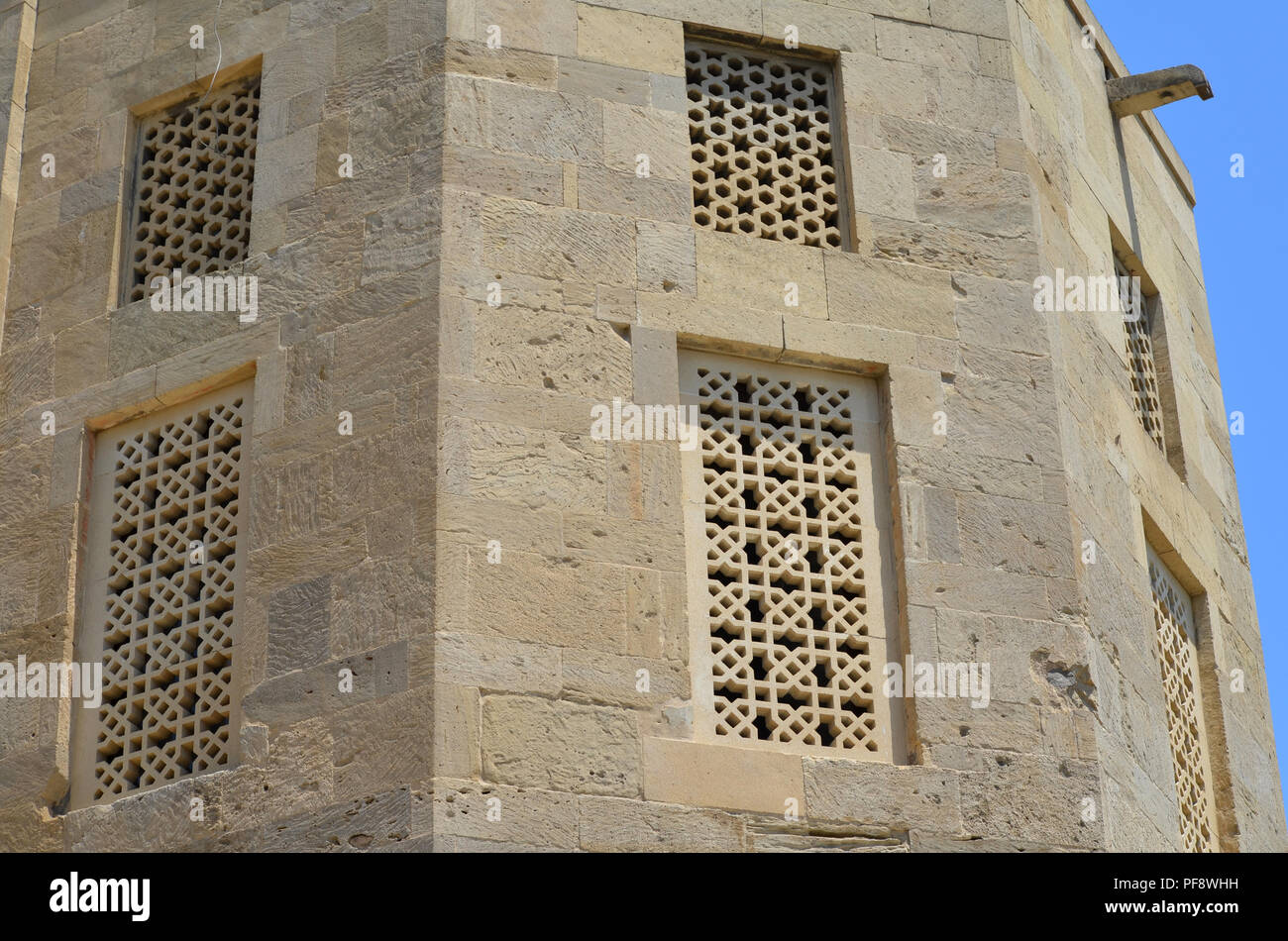 Palace of the Shirvanshahs in the old town of Baku, capital city of Azerbaijan - Stock Image