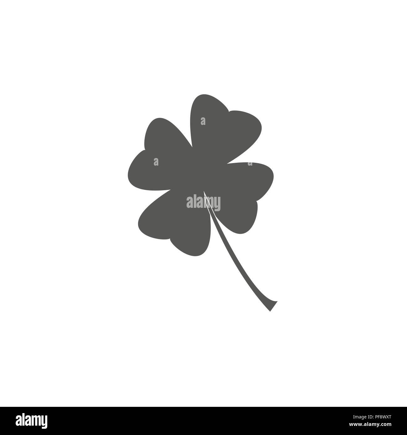 Four Leaf Clover Symbol Luck Patricks Day Illustration Icon Eps 10