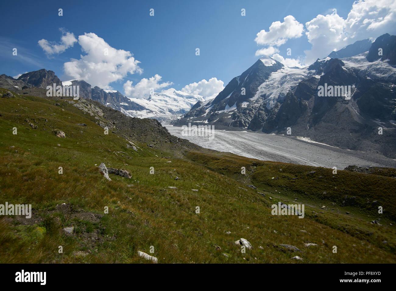 Corbassière Glacier, Switzerland, Wallis, Valais, Europe - Stock Image