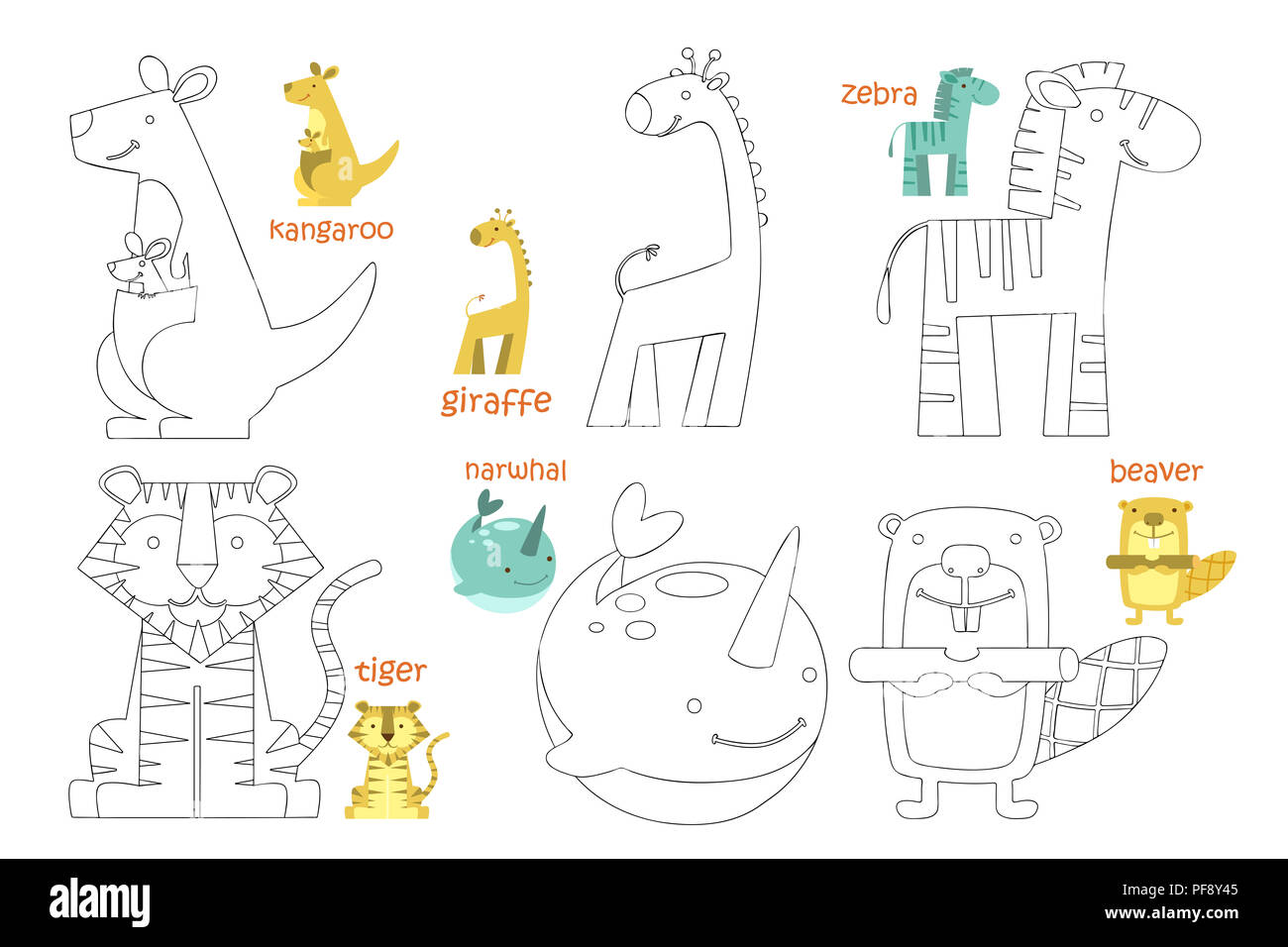 Coloring Page For Kids High Resolution Stock Photography and ...