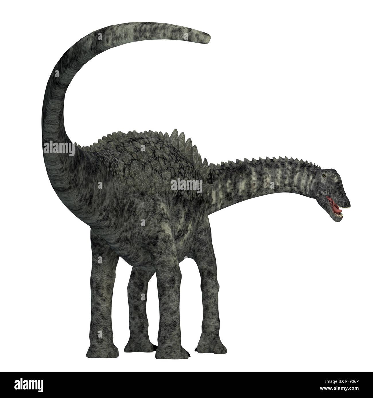 Ampelosaurus Dinosaur - Ampelosaurus was a herbivorous sauropod dinosaur that lived in Europe during the Cretaceous Period. - Stock Image