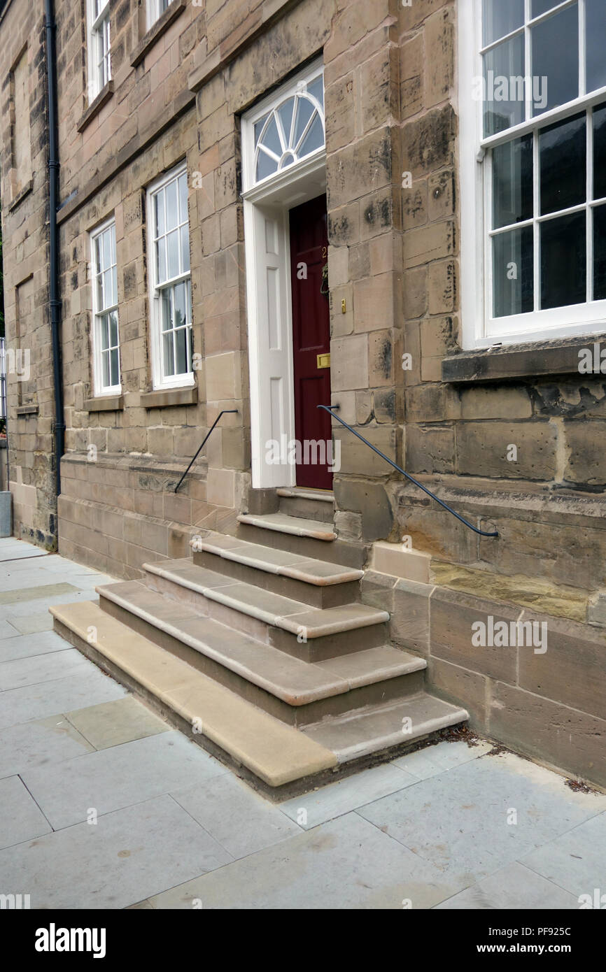 Stone Steps Up To Front Door Stock Photos Stone Steps Up