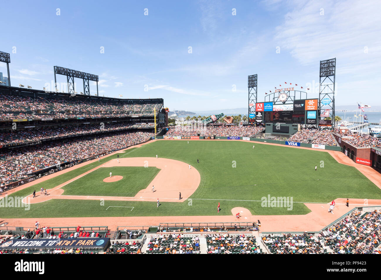 AT&T Park baseball stadium , San Fransisco , USA, home of the San Francisco Giants, the city's Major League Baseball franchise. - Stock Image