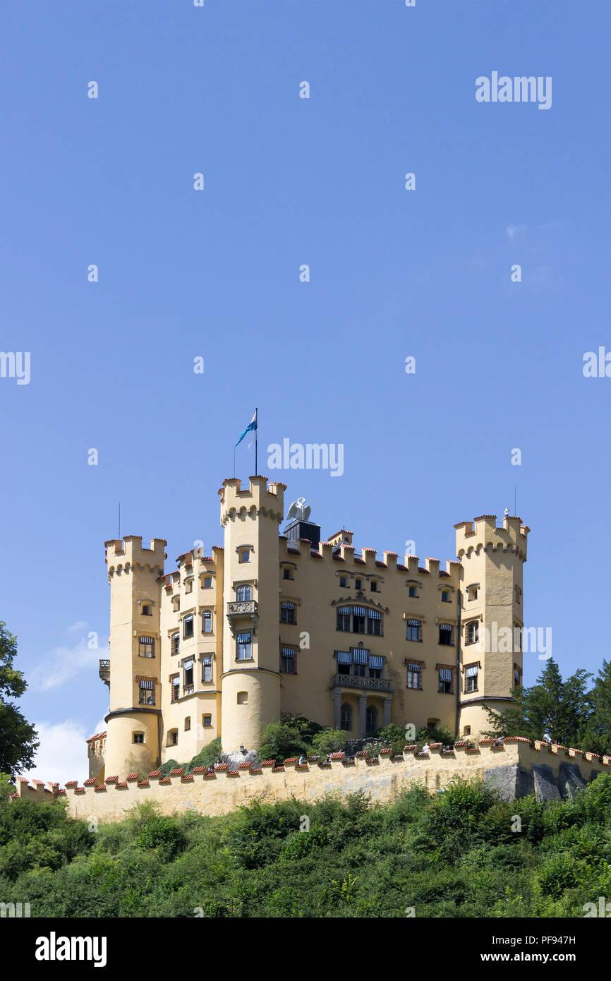 Hohenschwangau Castle, Hohenschwangau, Allgaeu, Bavaria, Germany - Stock Image