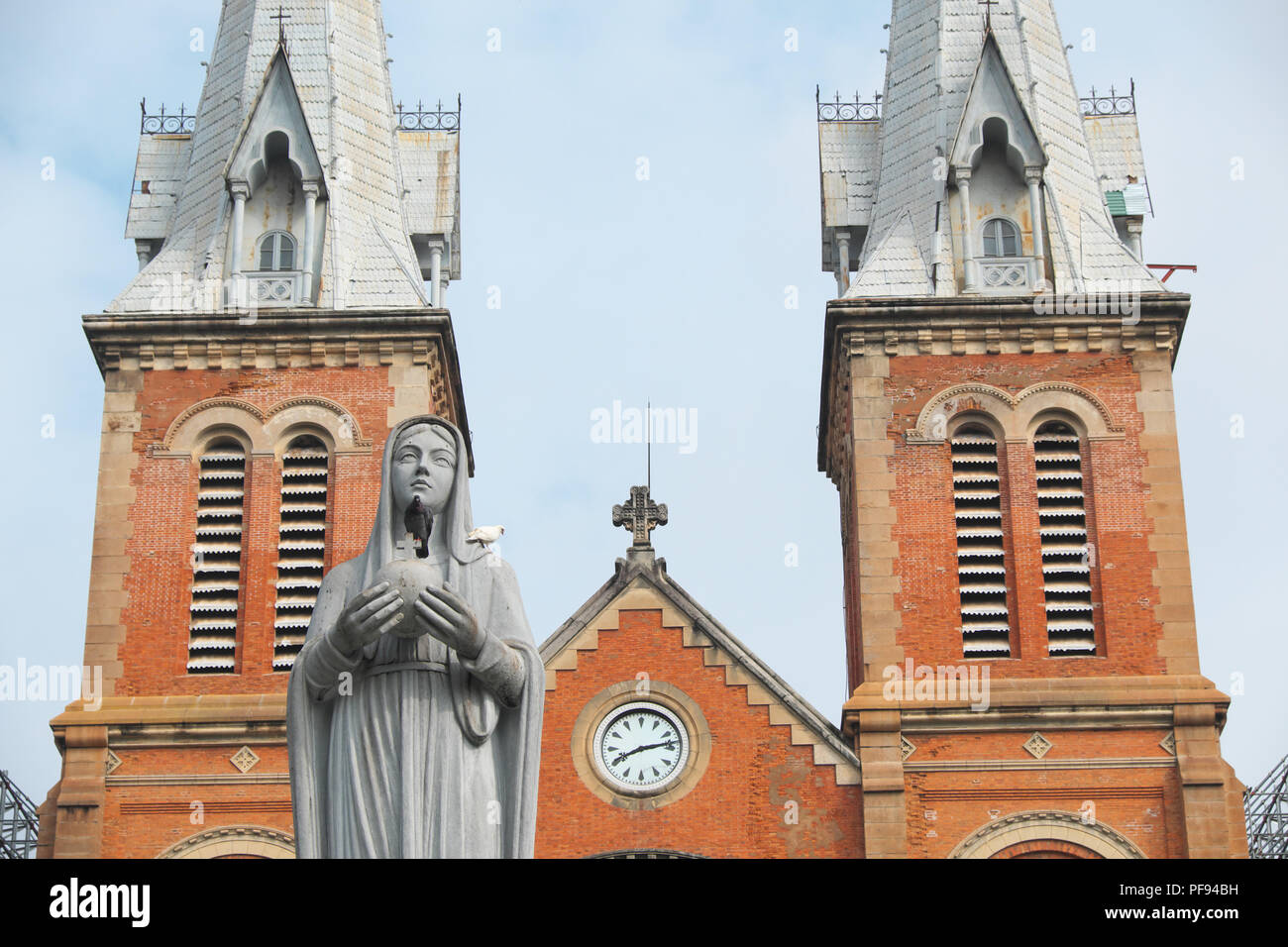 Vietnam the Notre Dame Cathedral in Ho Chi Minh City Viet Nam - Stock Image