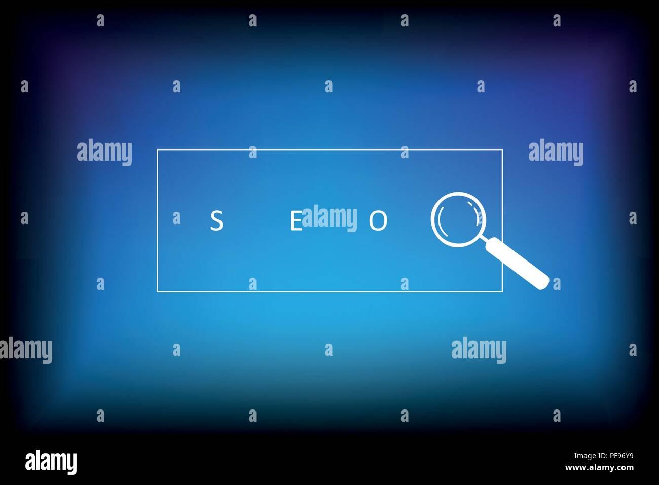 seo search design blue background vector illustration EPS10 - Stock Vector