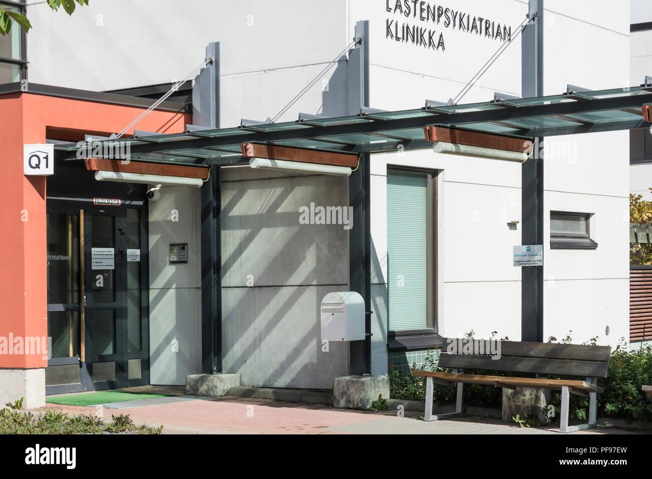 Tampere University Hospital in Tampere Finland - Stock Image