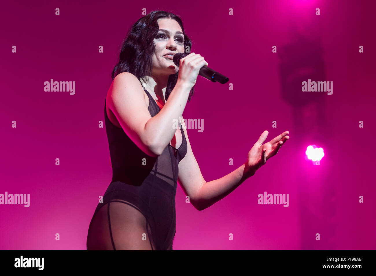 The British pop singer Jessie J. live at the 26th Blue Balls Festival in Lucerne, Switzerland - Stock Image