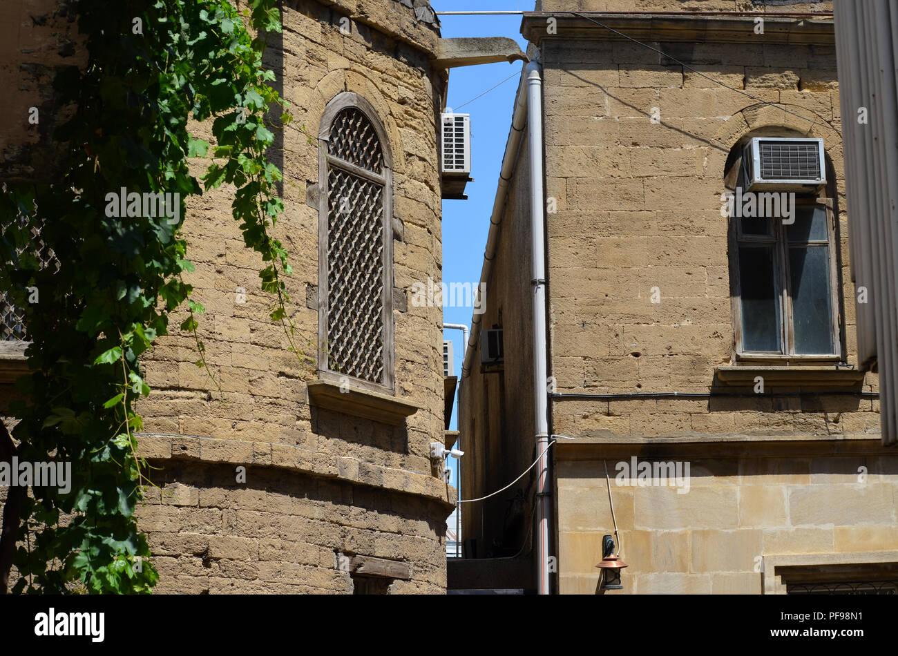 Içerisahar, the medieval Old town of Baku (Azerbaijan) - Stock Image