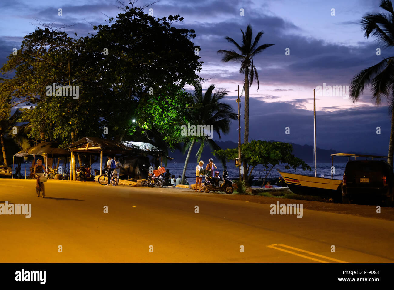 An Evening in Punto Cocles Stock Photo