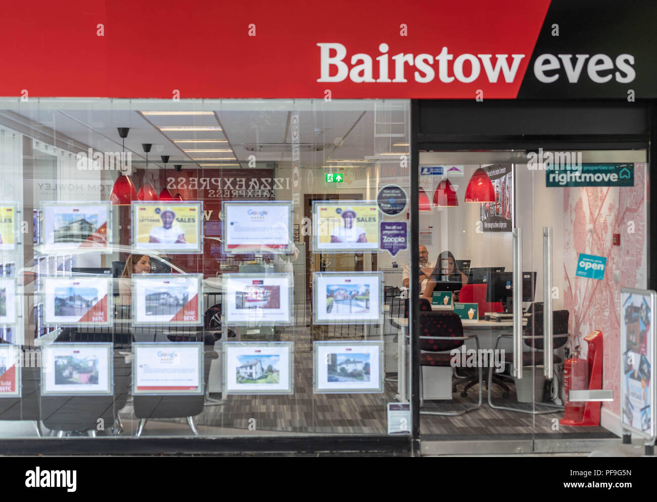 Bairstow Eves (part of the Countrywide plc Group) Estate agents shop signage in Brentwood Essex Stock Photo