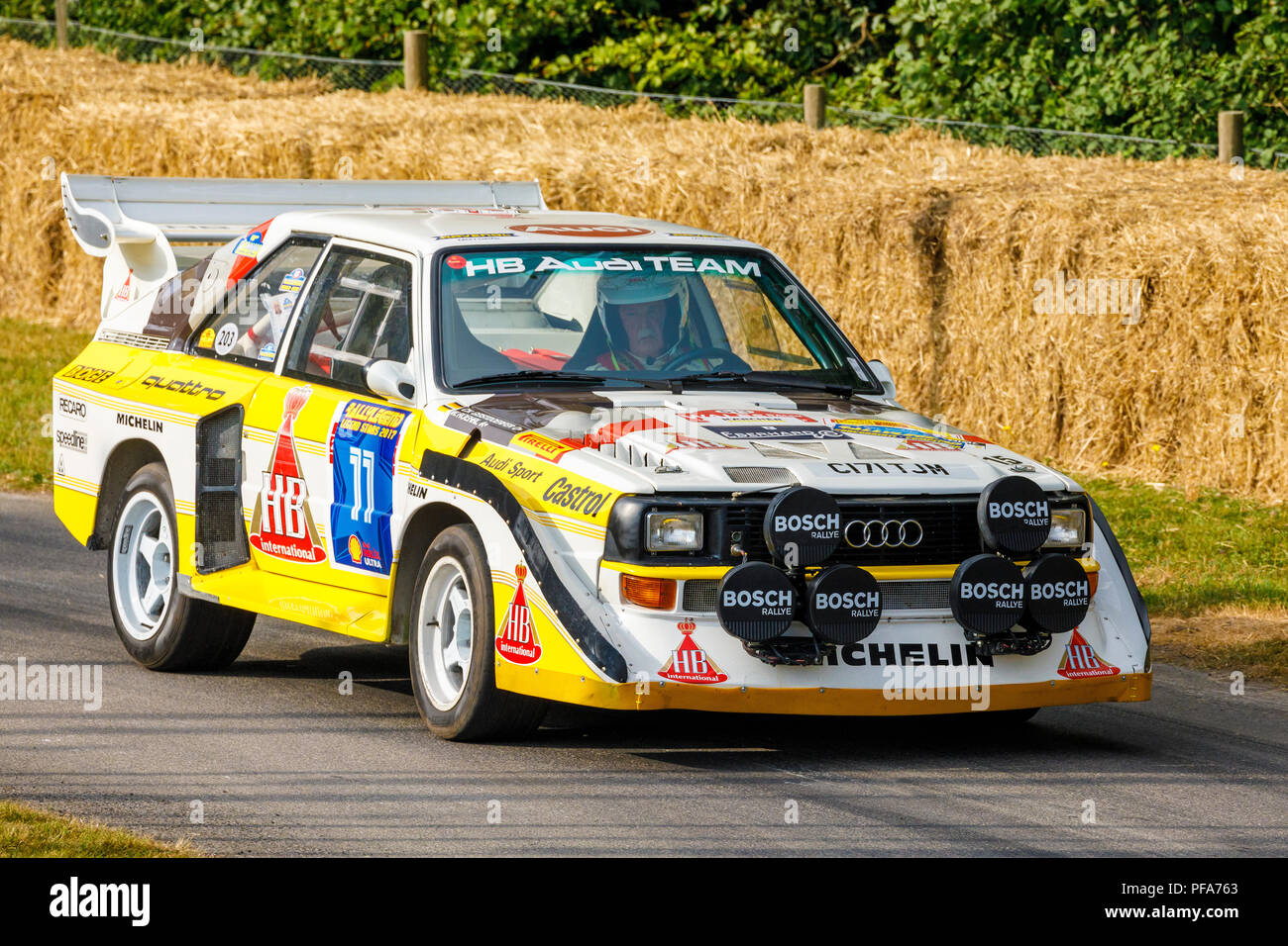1985 audi sport quattro s1 e2 group b rally car with. Black Bedroom Furniture Sets. Home Design Ideas
