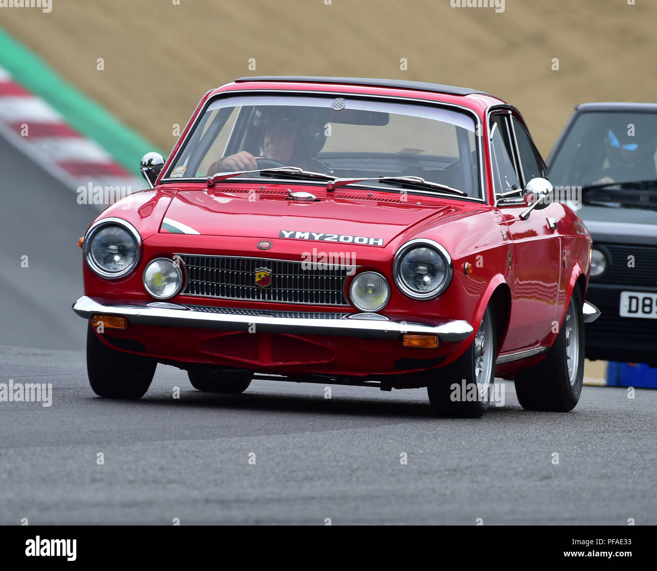 FIAT Abarth OT 1000, Historic Abarth Demonstration, Special Italian Car demo, Festival Italia, Brands Hatch, Kent, England, August 19th, 2018. - Stock Image