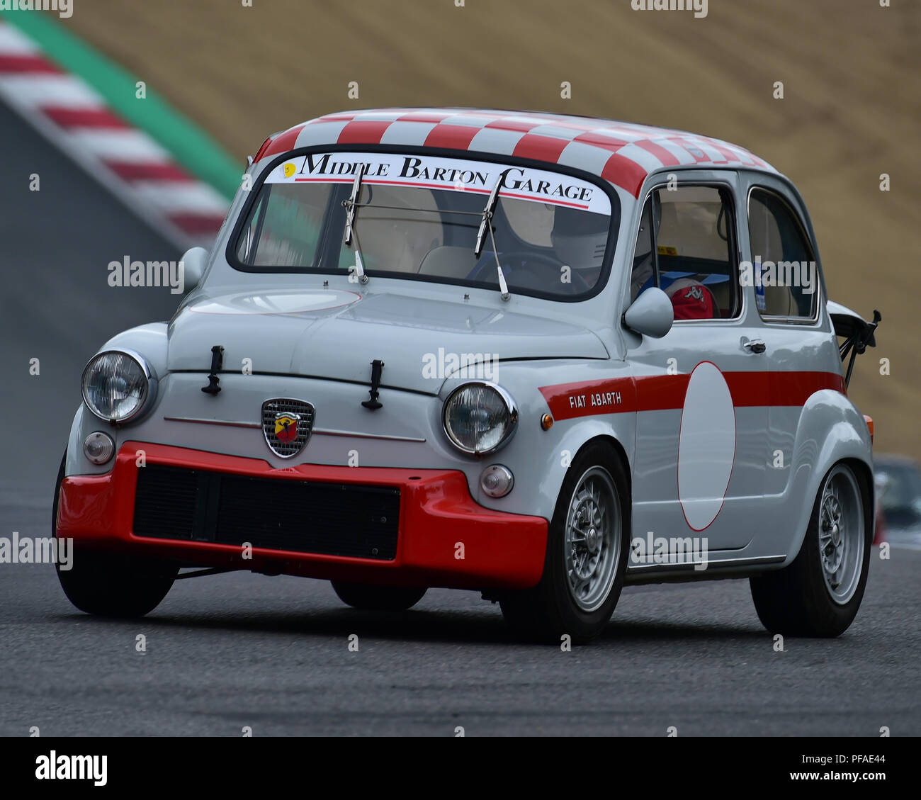 Abarth 1000 TC, Historic Abarth Demonstration, Special Italian Car demo, Festival Italia, Brands Hatch, Kent, England, August 19th, 2018. - Stock Image
