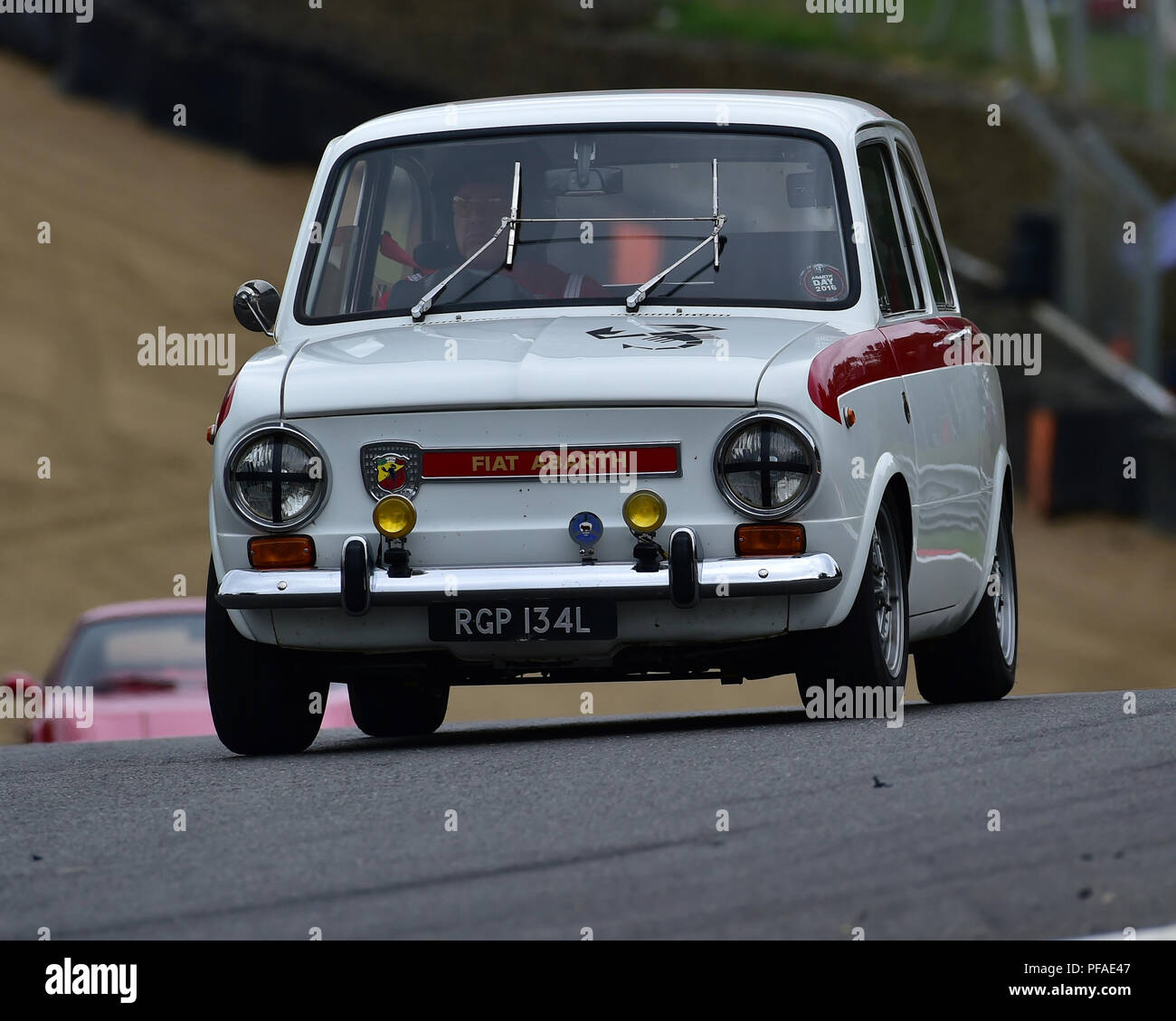 FIAT Abarth, Historic Abarth Demonstration, Special Italian Car demo, Festival Italia, Brands Hatch, Kent, England, August 19th, 2018. - Stock Image