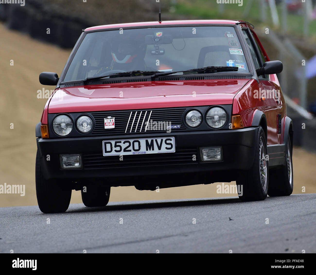 FIAT Strada Abarth, Historic Abarth Demonstration, Special Italian Car demo, Festival Italia, Brands Hatch, Kent, England, August 19th, 2018. - Stock Image
