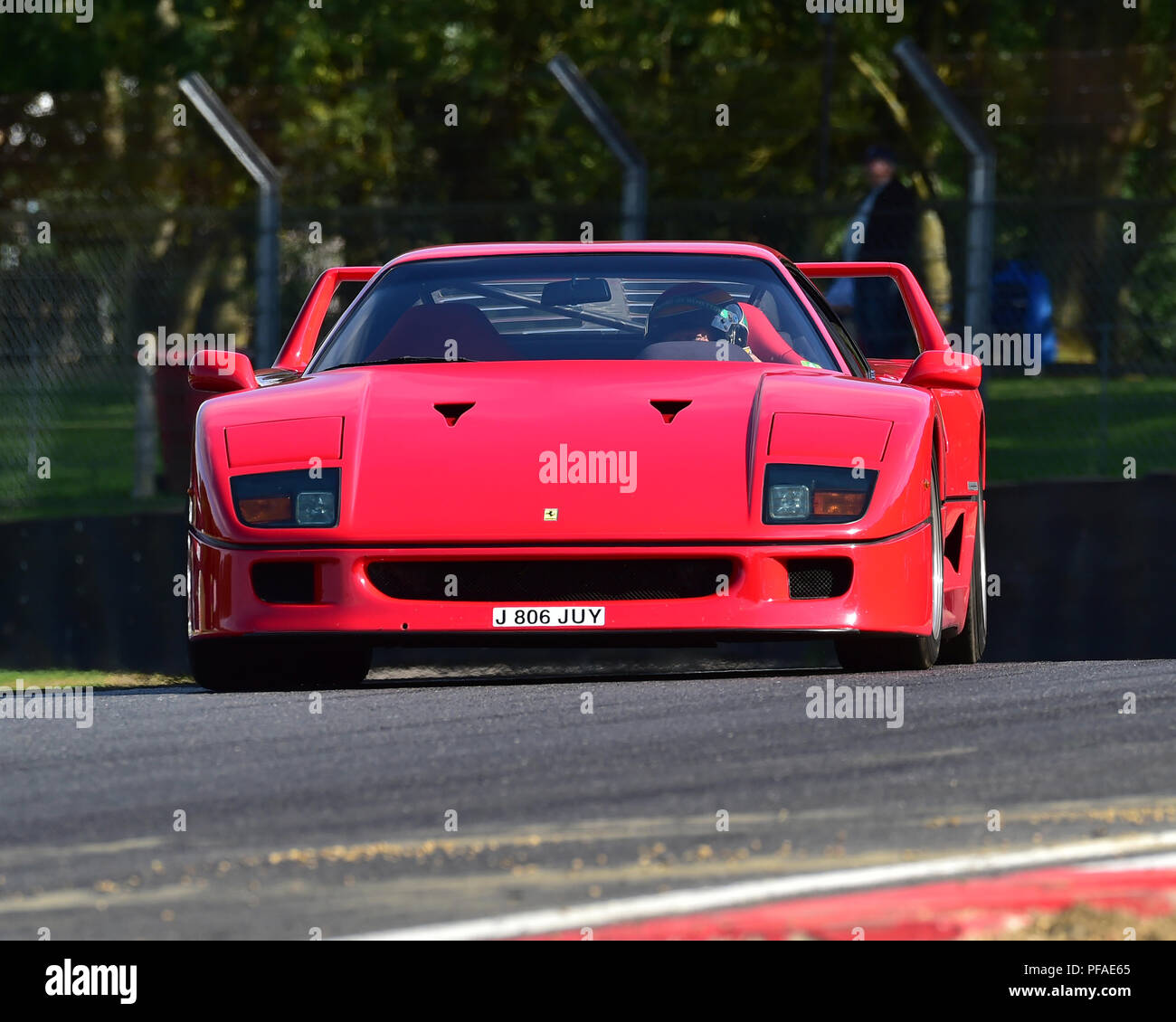 Ferrari F40, Historic Abarth Demonstration, Special Italian Car demo, Festival Italia, Brands Hatch, Kent, England, August 19th, 2018. - Stock Image