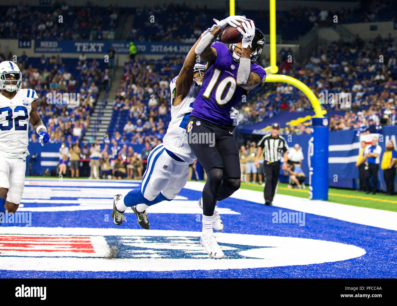 August 20, 2018: Baltimore Ravens wide receiver Chris Moore (10 ...