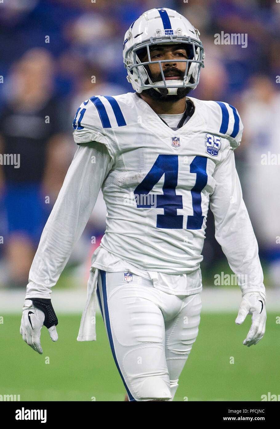 free shipping 4a288 a90f9 August 20, 2018: Indianapolis Colts safety Matthias Farley ...