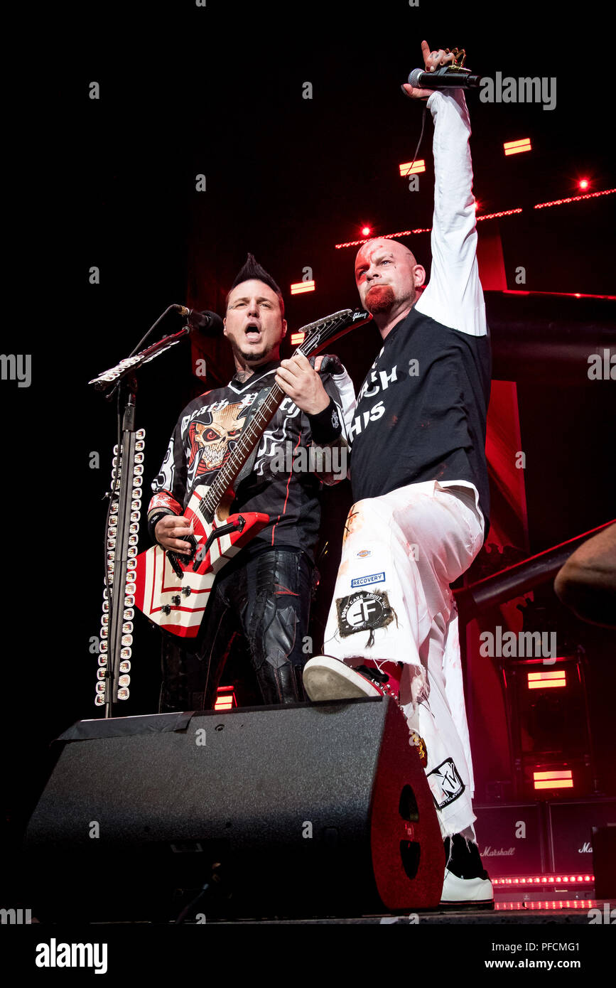 American Heavy Metal Band Five Finger Death Punch Also Abbreviated As 5FDP Or FFDP Performs At Budweiser Stage In Toronto Members ZOLTAN BATHORY
