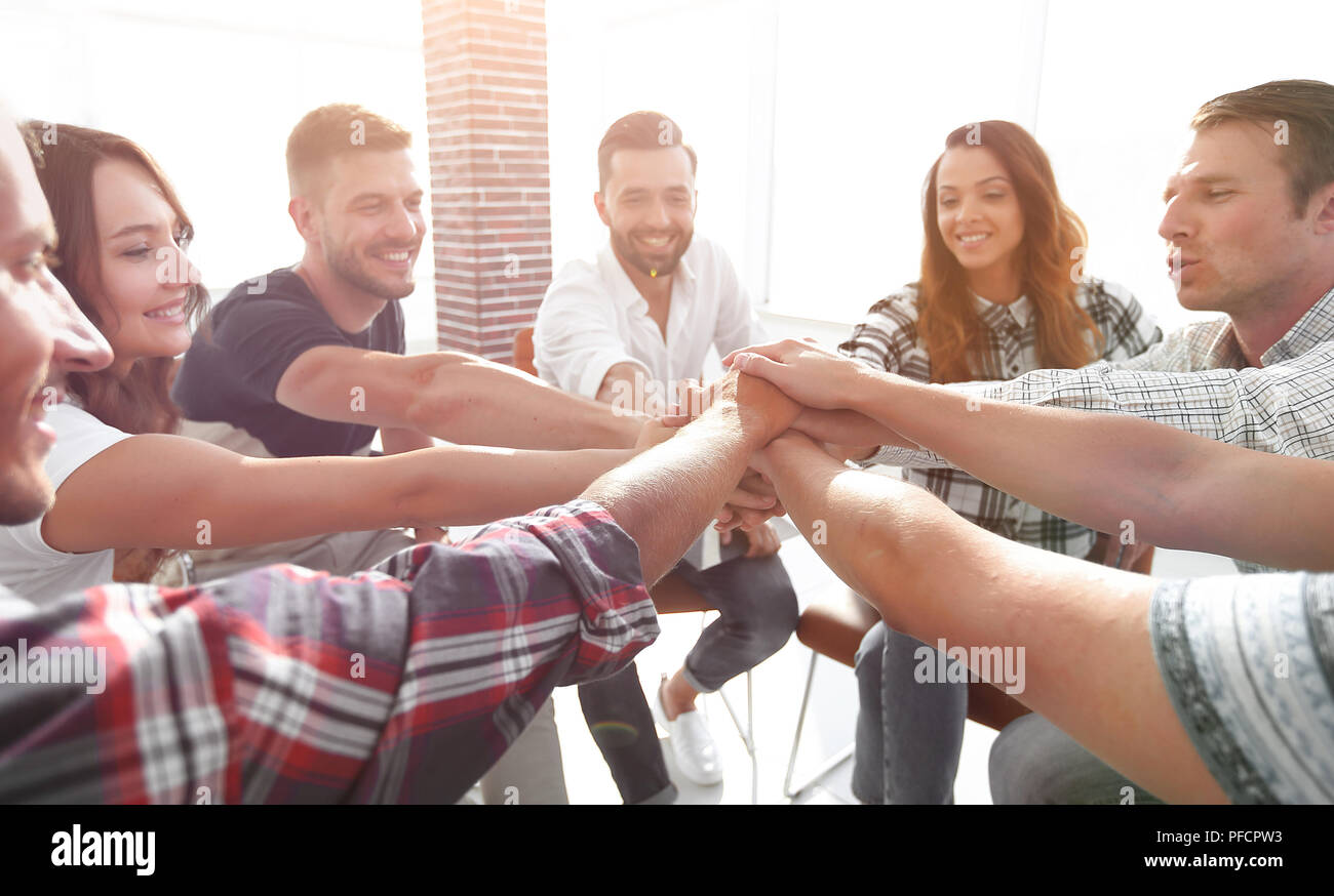 unified business team.the concept of teamwork - Stock Image