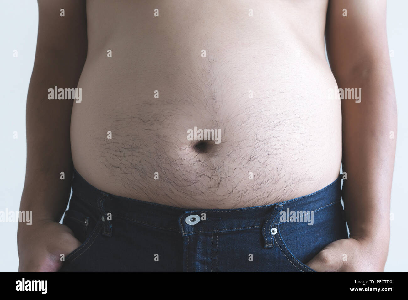 Chubby males belly