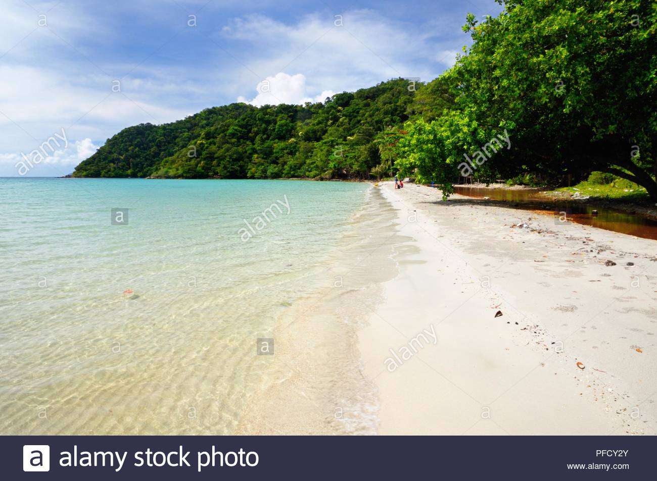 The Long beach on Koh Chang island, Thailand. - Stock Image