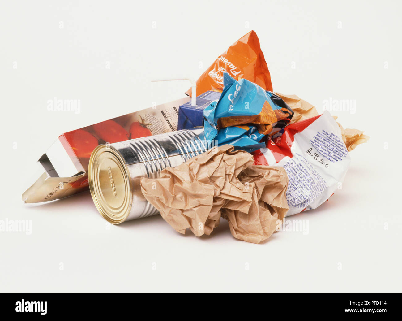 Small pile of litter - Stock Image
