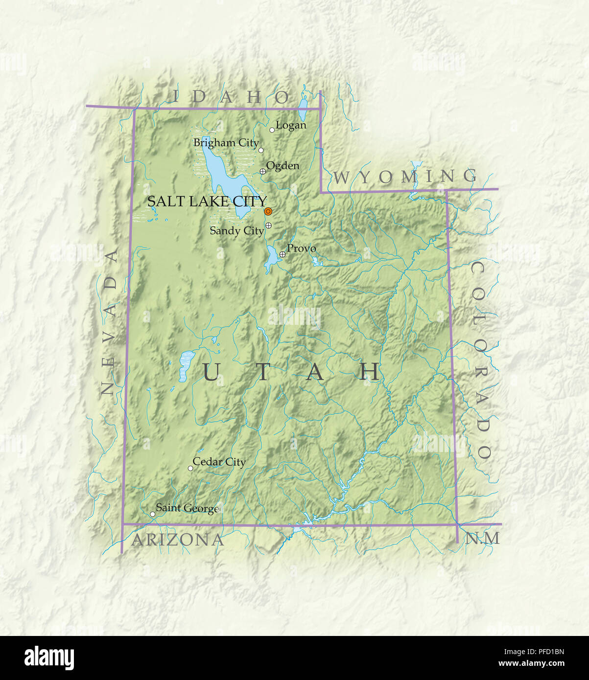 Image of: Map Of Utah High Resolution Stock Photography And Images Alamy