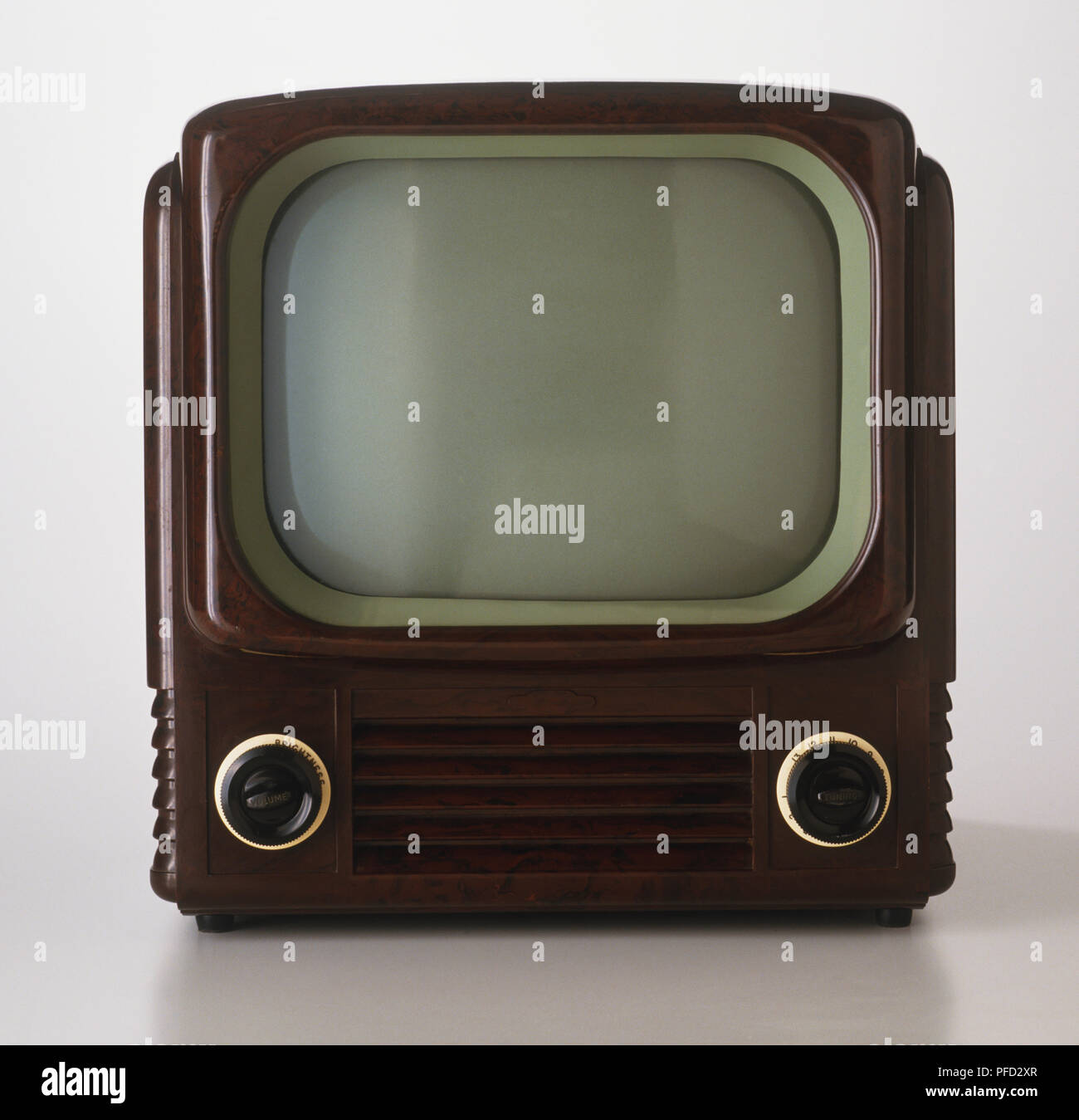 1950s tv set - Stock Image