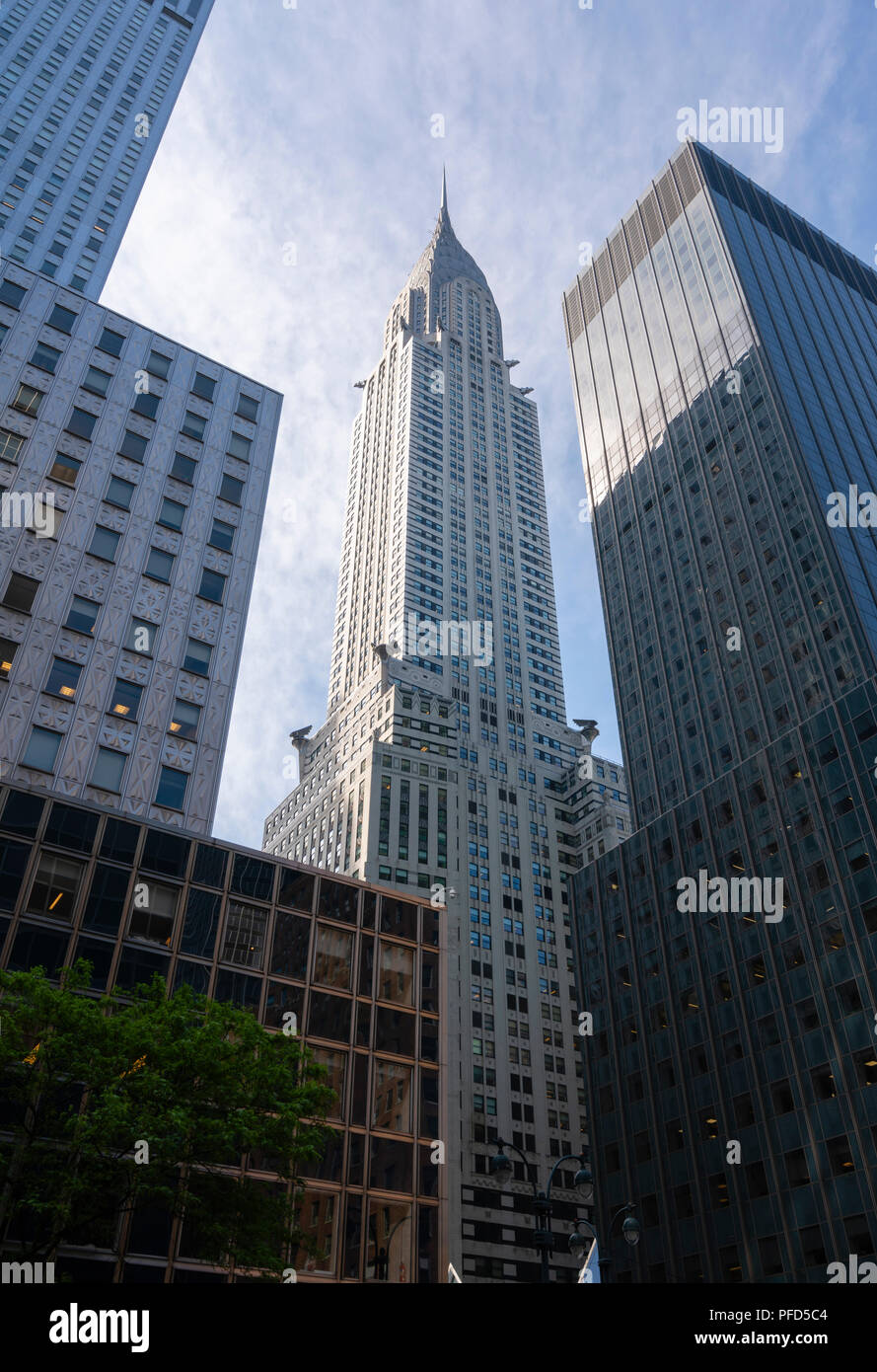 View of Chrysler Building in New York City - Stock Image