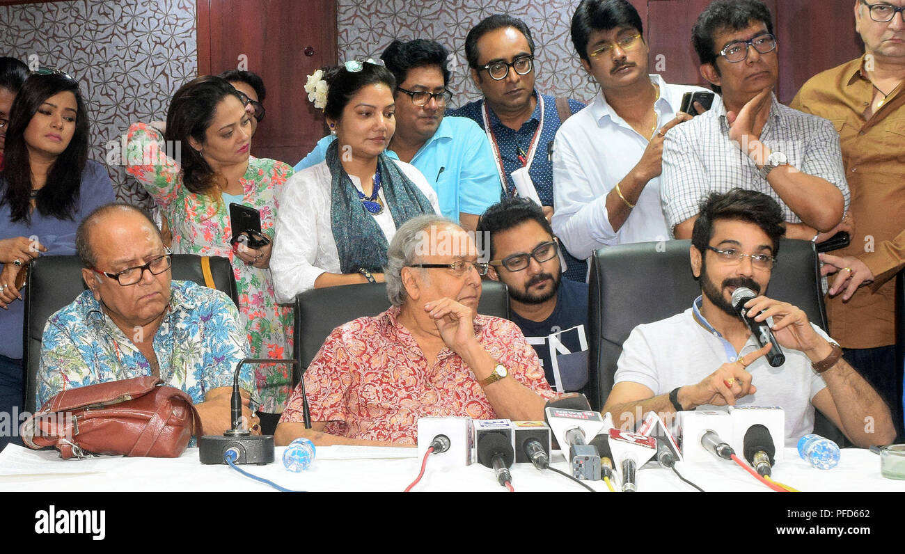 Kolkata, India  20th Aug, 2018  Bengali film actor Dipankar Dey