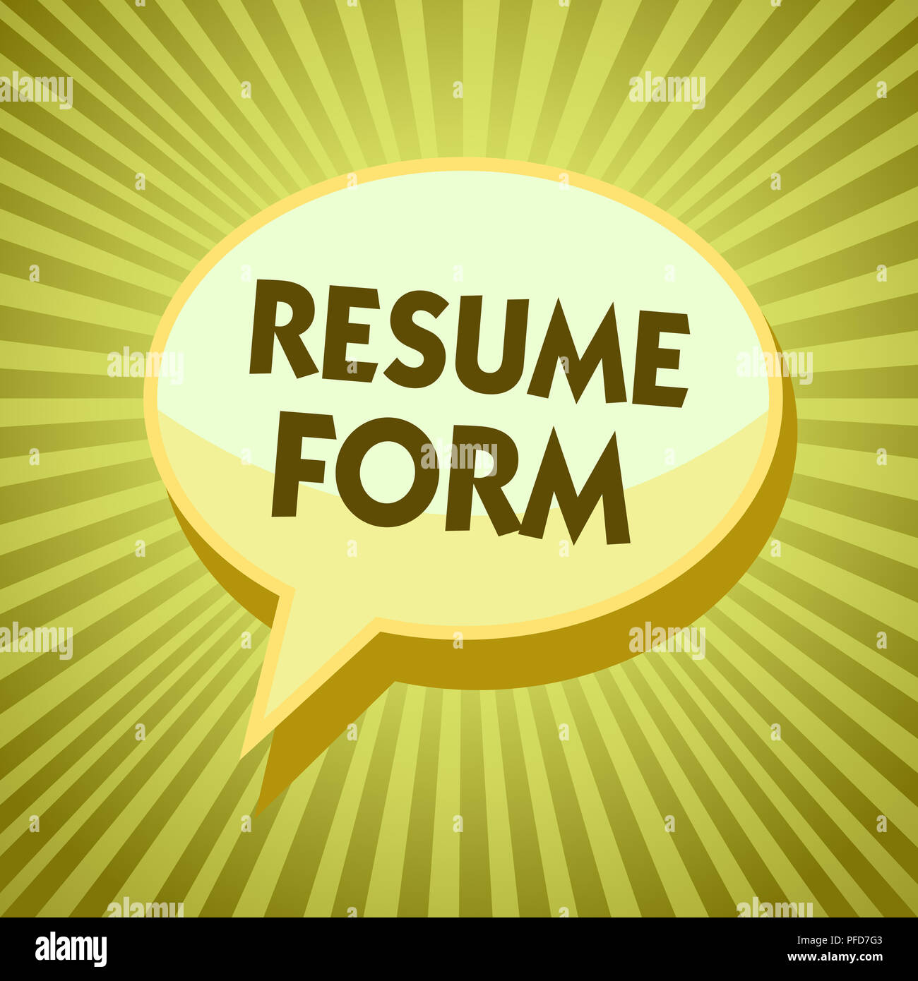 Conceptual Hand Writing Showing Resume Form Business Photo