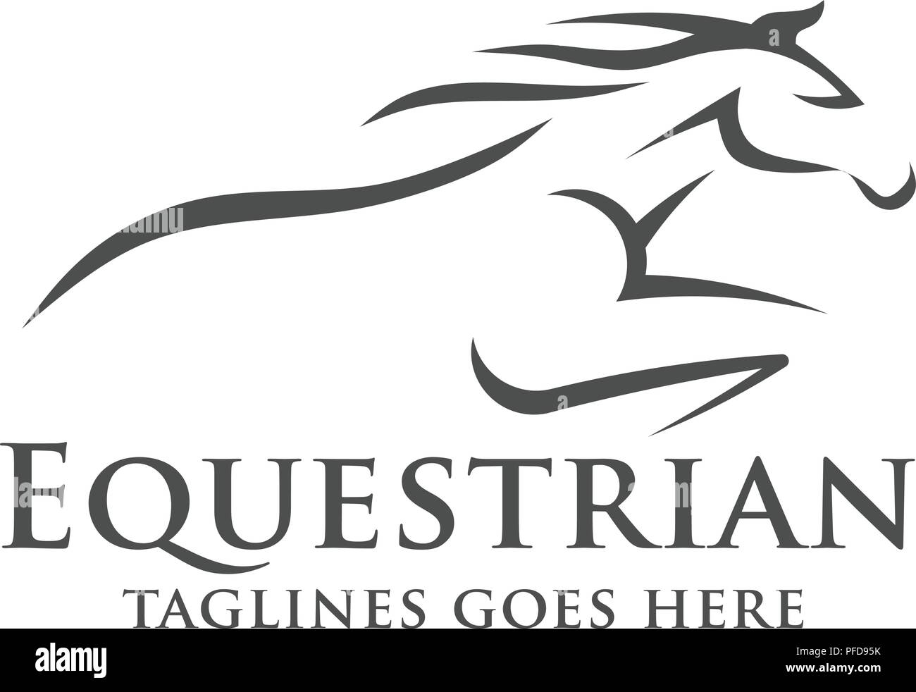 Horse Racing Logo Template Vector Racer Or Rearing Mustang And Running Stallion Head For Equine Sport Races Or Rides And Equestrian Contest Stock Vector Image Art Alamy