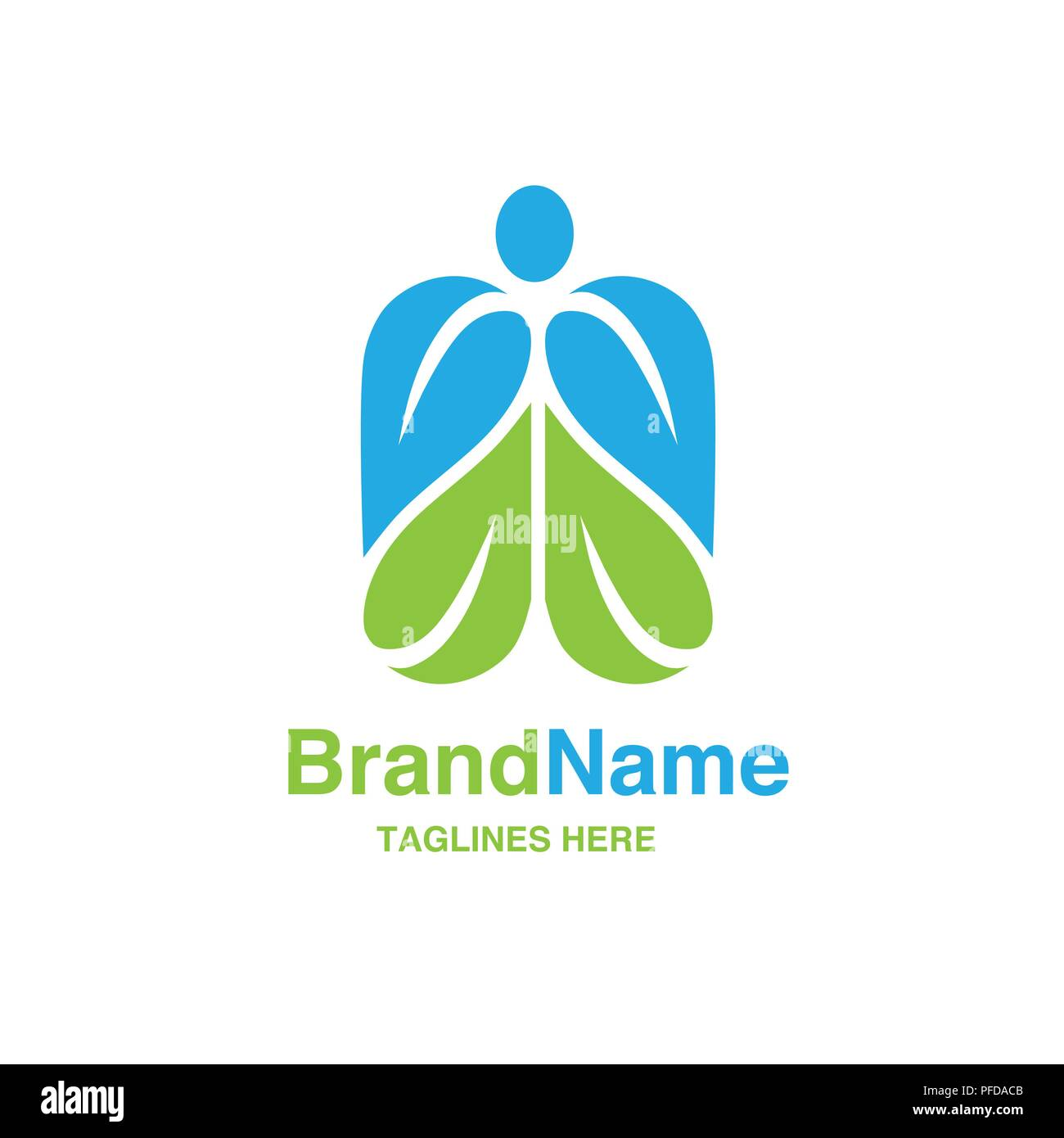 Green Leaf With Shape Of Human Figure Logo Creative Organic Health Food Nutrition And Diet Logo Vector Concept Green Leaf With Shape Of Human Figure Stock Vector Image Art Alamy
