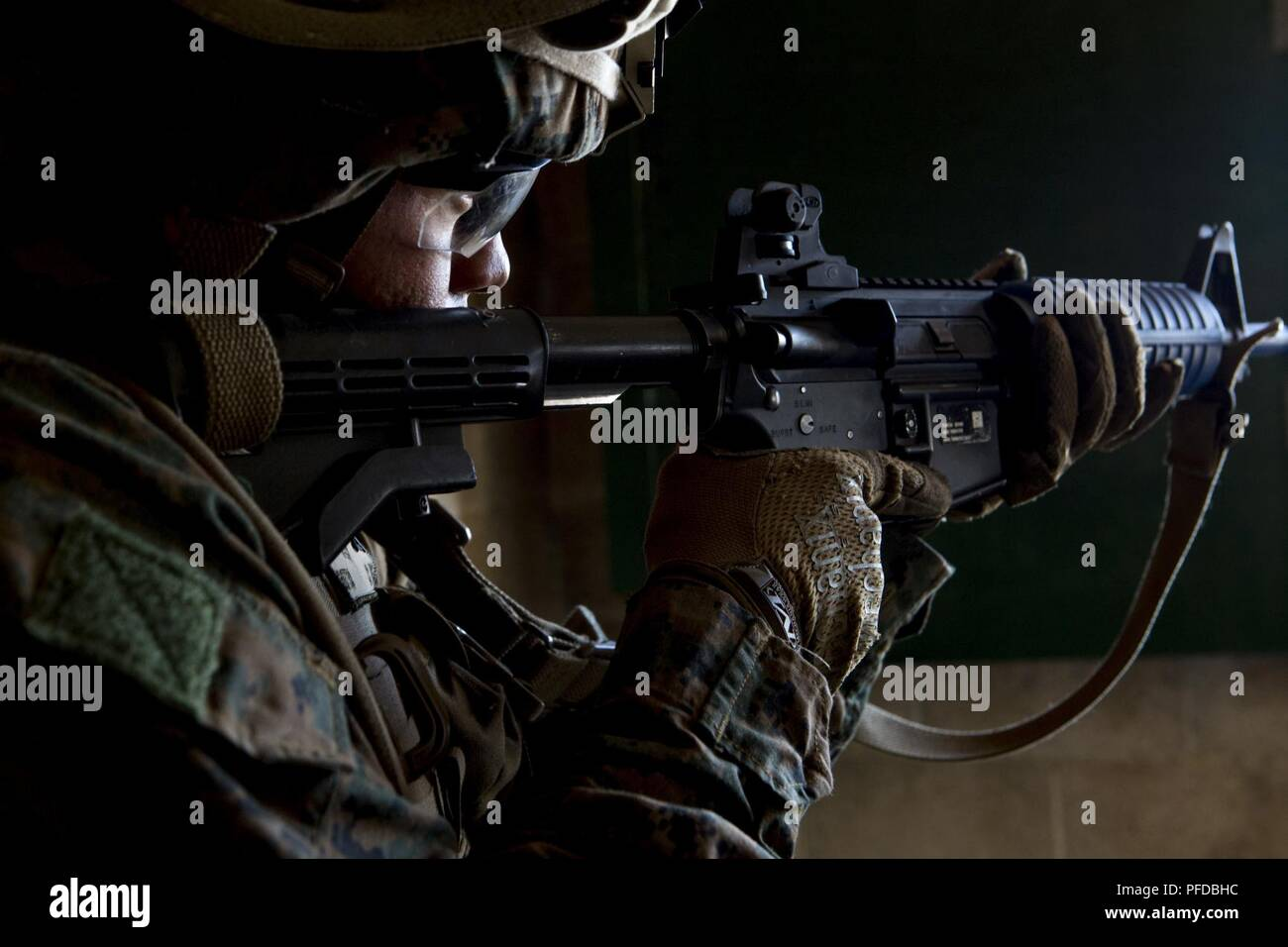 A Us Marine With Special Purpose Marine Air Ground Task Force