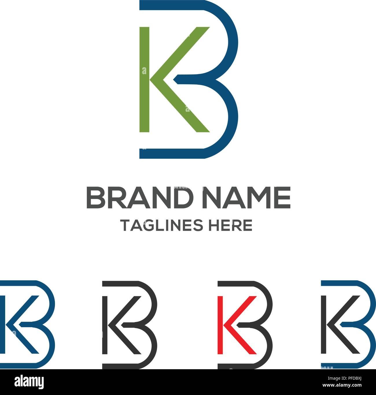 kb letter logo design vector illustration template b letter logo vector letter k and b logo vector creative letter kb letter logo