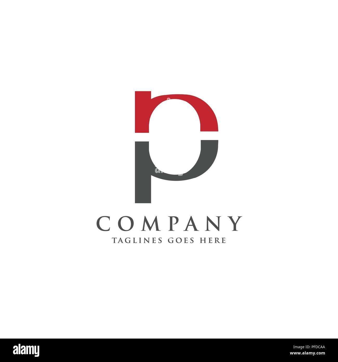 letter p and n logo design vector illustration template letter pn