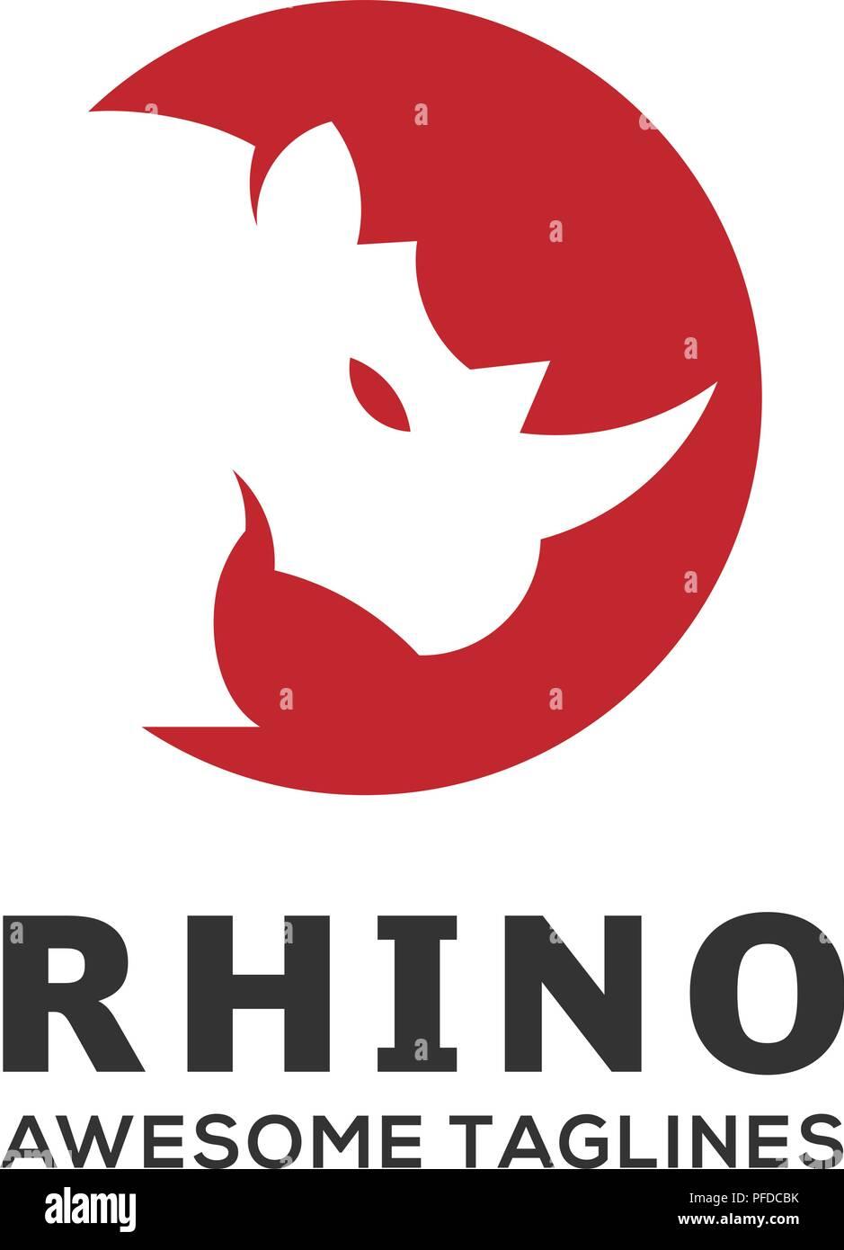 rhinoceros rhino logo business template rhinos head logo for